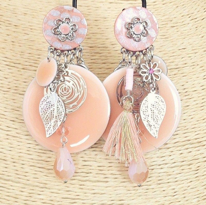 Boucles d'oreilles fantaisie clip pendantes