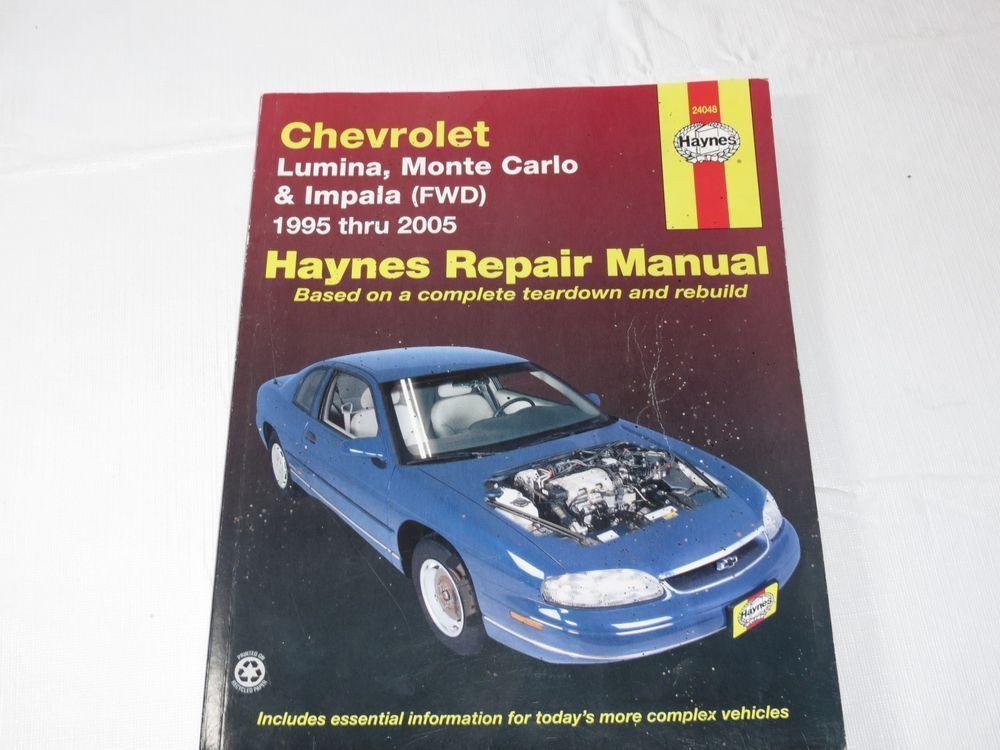 haynes repair manual chevrolet lumina monte carlo and impala fwd rh pinterest com 93 Lumina Repair Manual 2004 Chevrolet Lumina