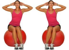 beginner ball workout for balance stability and core