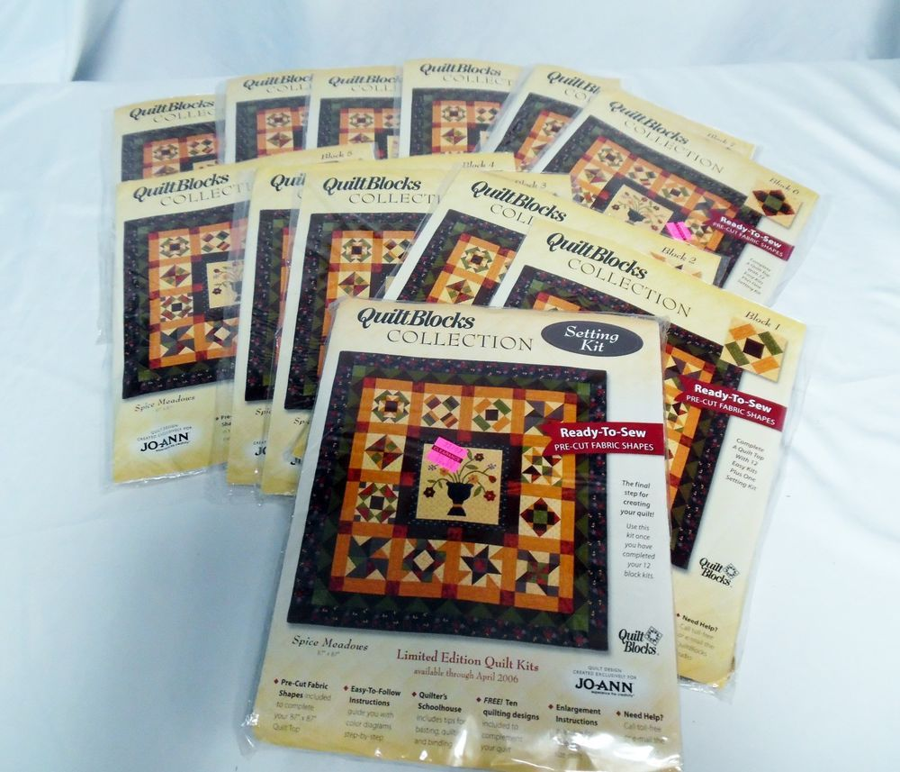 Spice Meadows Quilt 12 Blocks Complete with Setting Kit