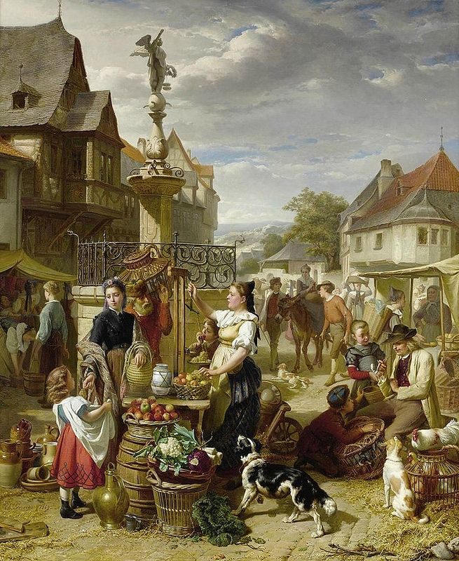 Theodore Gerard Market Day Art Painting Images Art Historical Painting