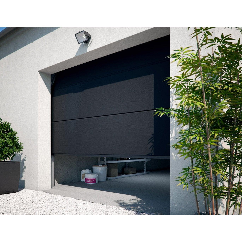 Porte De Garage Sectionnelle Motorisee Primo H 200 X L 240 Cm Porte De Garage Sectionnelle Porte Garage Garage