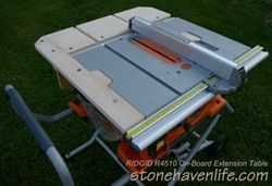 Ridgid R4510 With On Board Extension Table Fence Wm