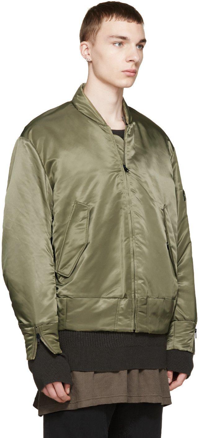 YEEZY Season 1 Green Nylon Bomber Jacket | Bomber | Pinterest ...