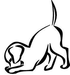 dog outline tattoo - Google Search | Cute tattoos | Pinterest ...