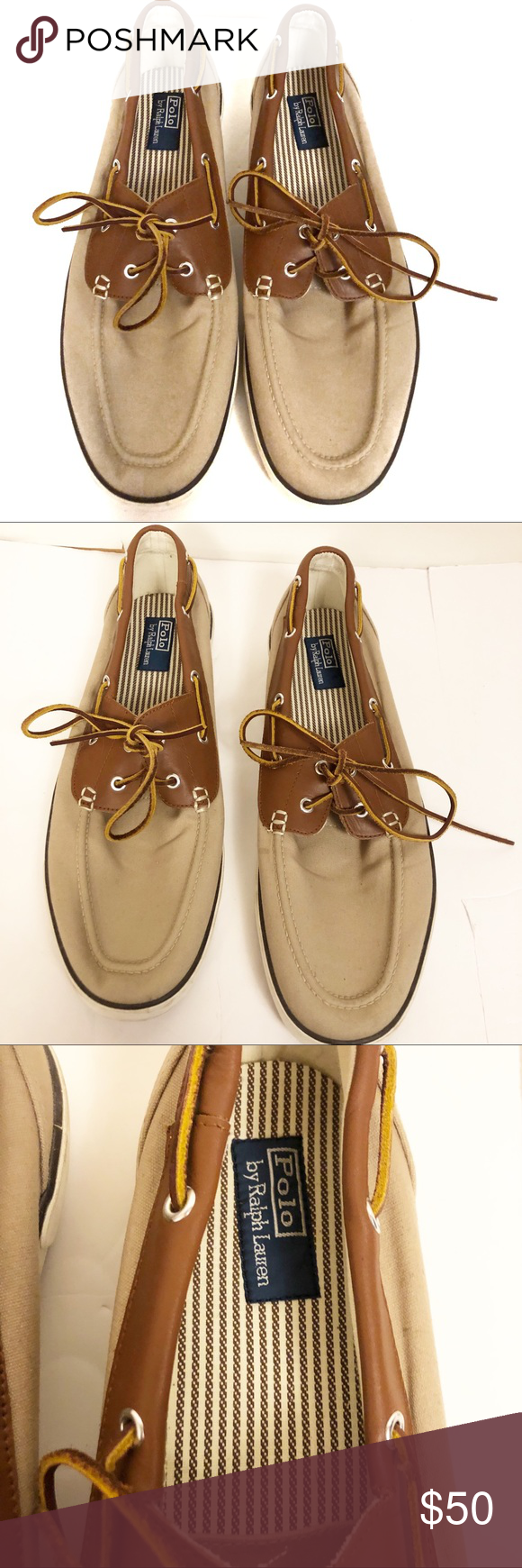 Leather boat shoes, Polo ralph lauren