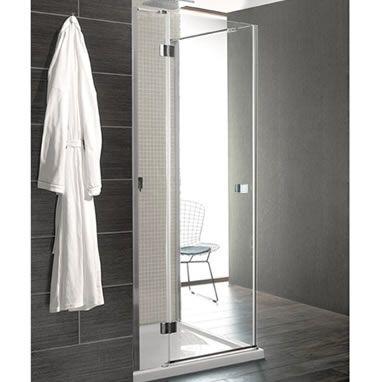 crosswater design 8 hinged door with inline panel