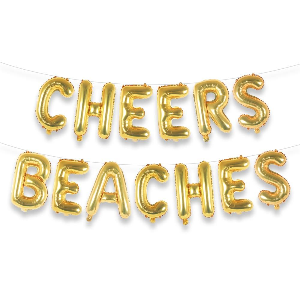 Cheers Beaches Balloon Letter Kit In 2020 Bachelorette Party