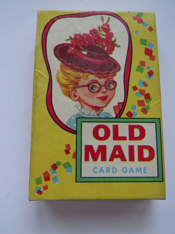 1950s old maid card game full deck e e fairchild 428