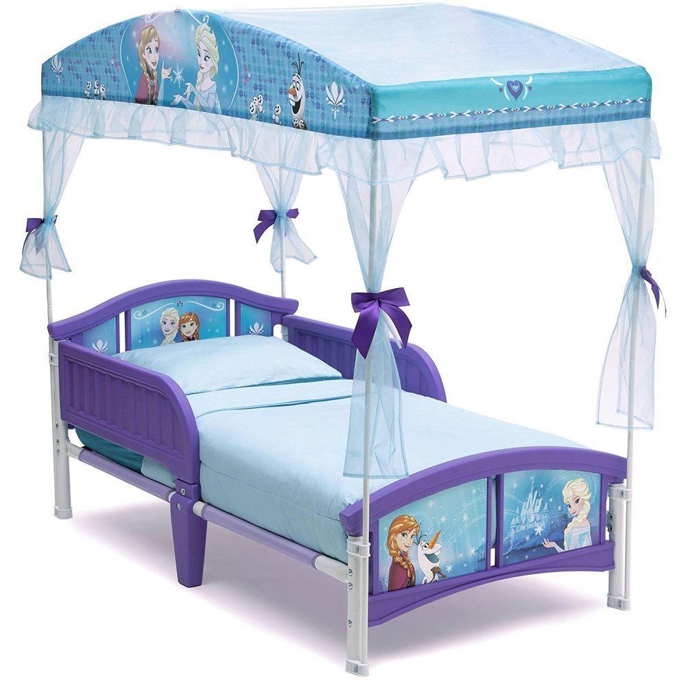 Frozen Toddler Bed Durable Kids Girls Elsa Anna Canopy Disney