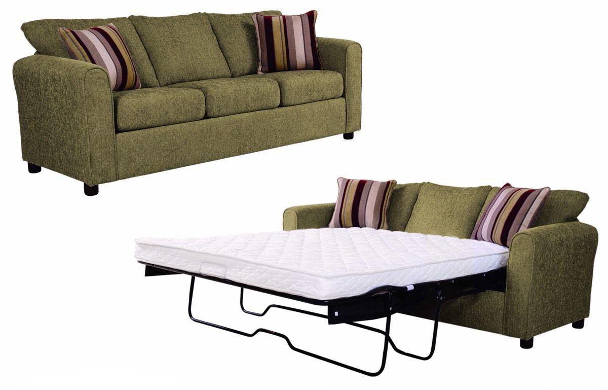 Awe Inspiring Flyer Green Queen Sleeper Sofa Includes 2 Toss Pillows In Cjindustries Chair Design For Home Cjindustriesco