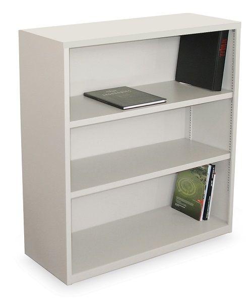 Ensemble Metal Bookcase W 3 Shelves 40 H