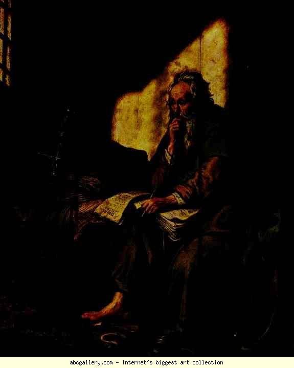 Rembrandt. St. Paul in Prison. Olga's Gallery.