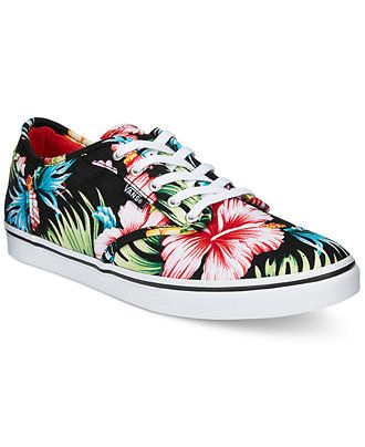 5eb833dbfa Vans Women s Atwood Low Aloha Lace-Up Sneakers - Sneakers - Shoes - Macy s
