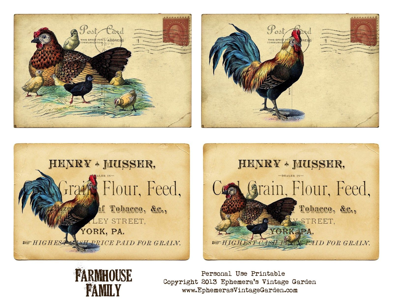 24 by 36 Marmont Hill Vintage-Farm Kitchen Chicken Chick Feed Canvas Wall Art