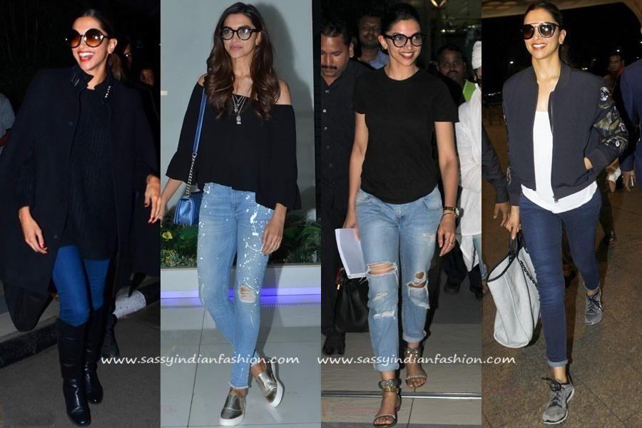8 Deepika Padukone Inspired Ways To Style Your Jeans Sassy Indian Fashion Celebrity Jeans Deepika Padukone Jeans Indian Pants