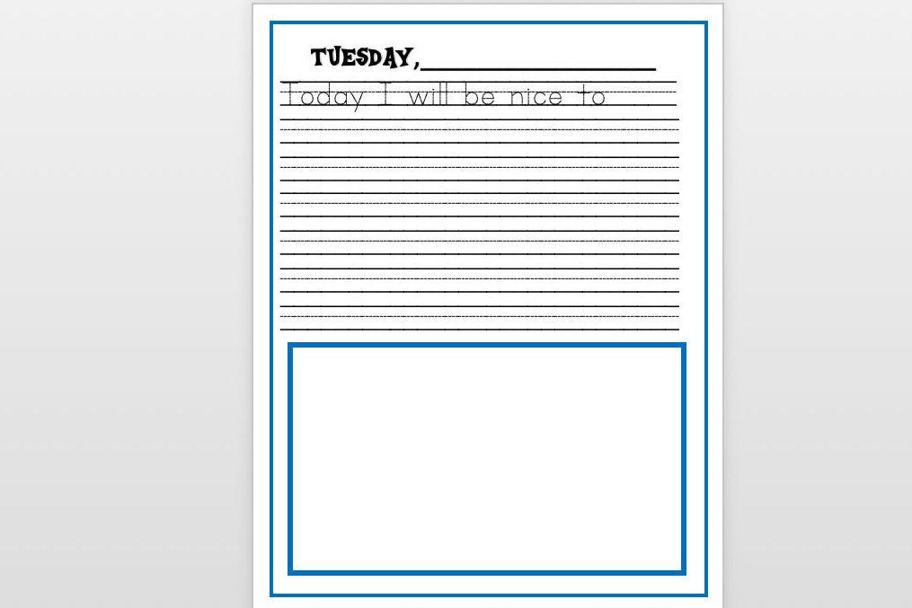 Printable Journal Pages With Labeled Days Of The Week Set Of Etsy Personalized Journal Cover Kids Journal Personalized Journal