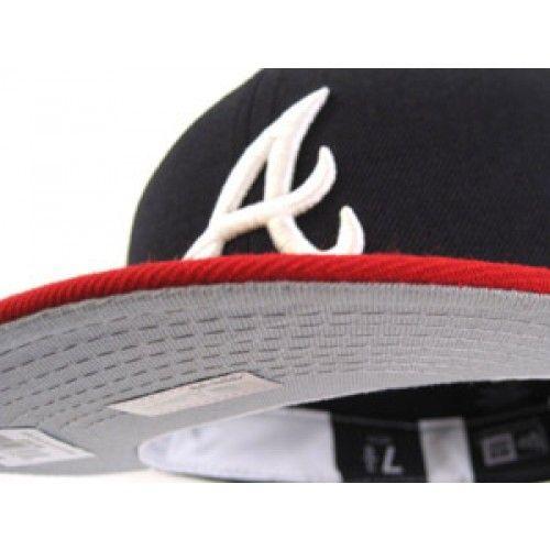 Atlanta Braves New Era Hats Retro On Field Replica Gray Under Brim New Era Hats Fitted Hats Atlanta Braves
