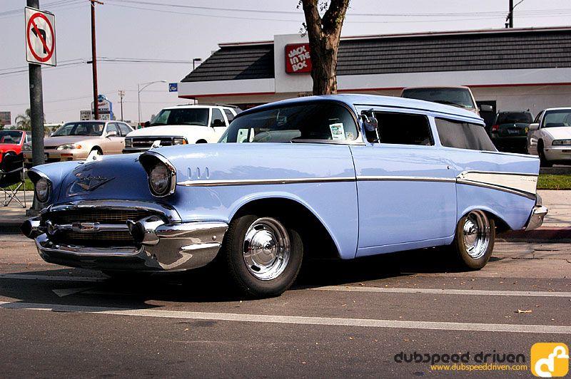 '57 Chevy Shorty. Taken in Bakersfield, CA Hwy 99 Show