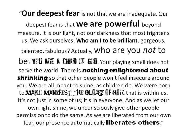Our deepest fear analysis essay