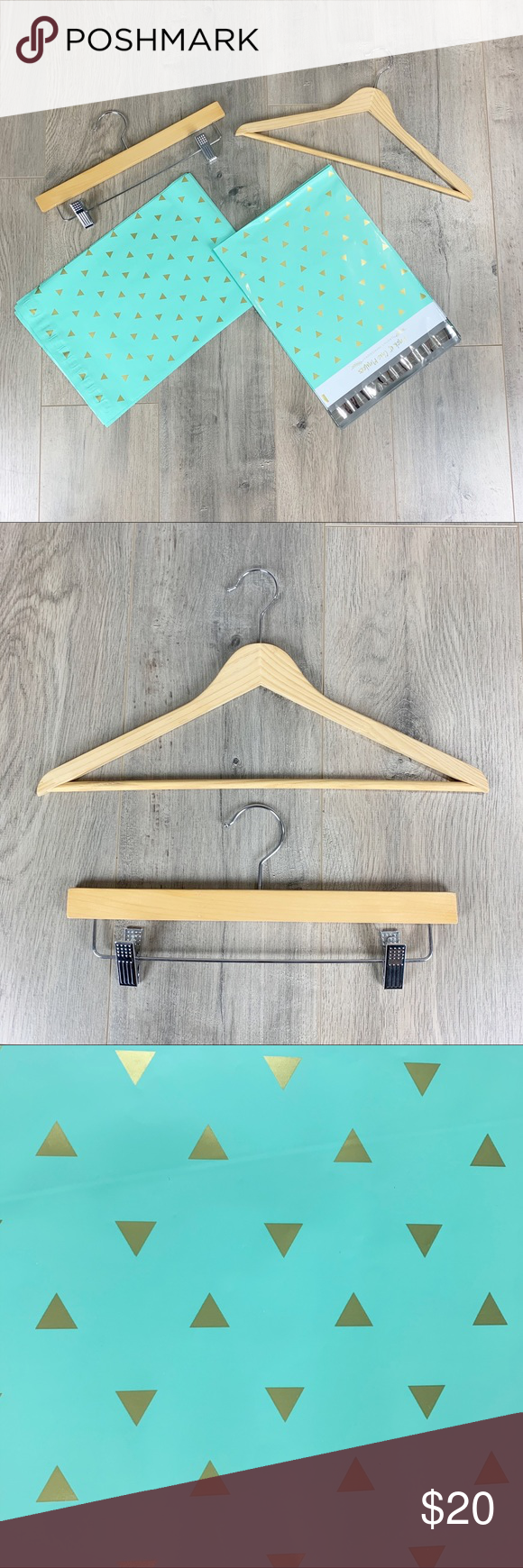 Poshmark Starter Kit with Wooden Hangers & Mailers Step up