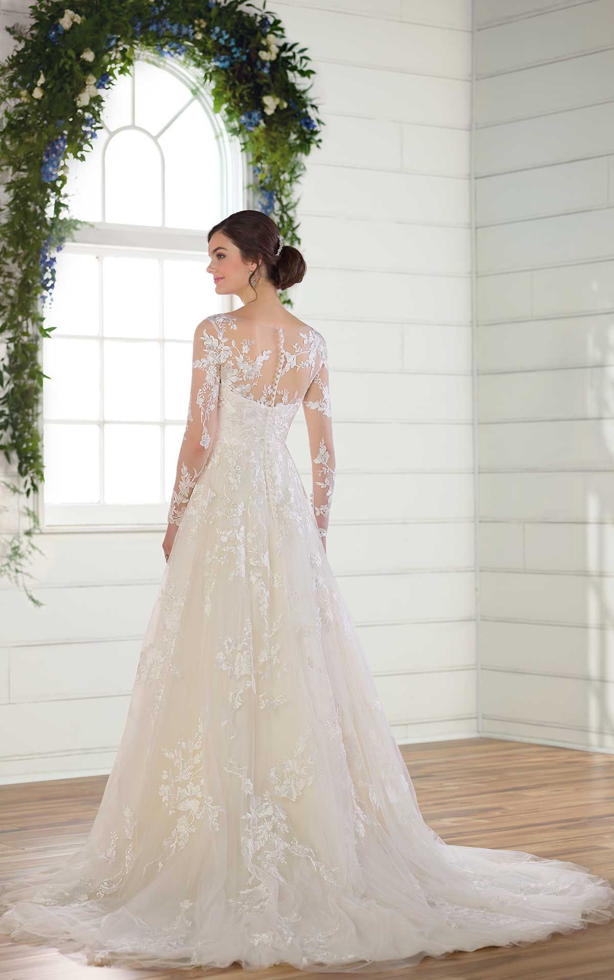 My dress modest wedding dress with sleeves essense of australia