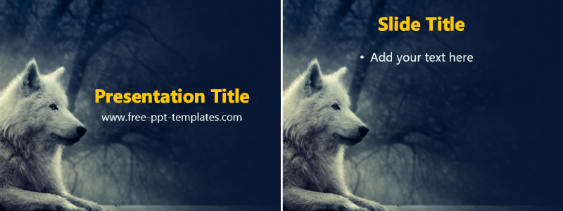 Wolf ppt template list of free powerpoint design templates wolf ppt template toneelgroepblik Gallery