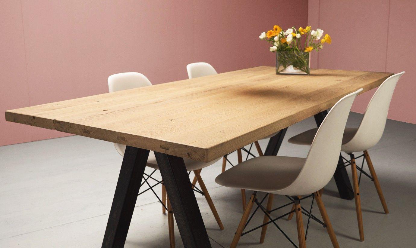 gibraltar table sur mesure en vieux bois ch ne fond de wagon postaux la parqueterie nouvelle. Black Bedroom Furniture Sets. Home Design Ideas