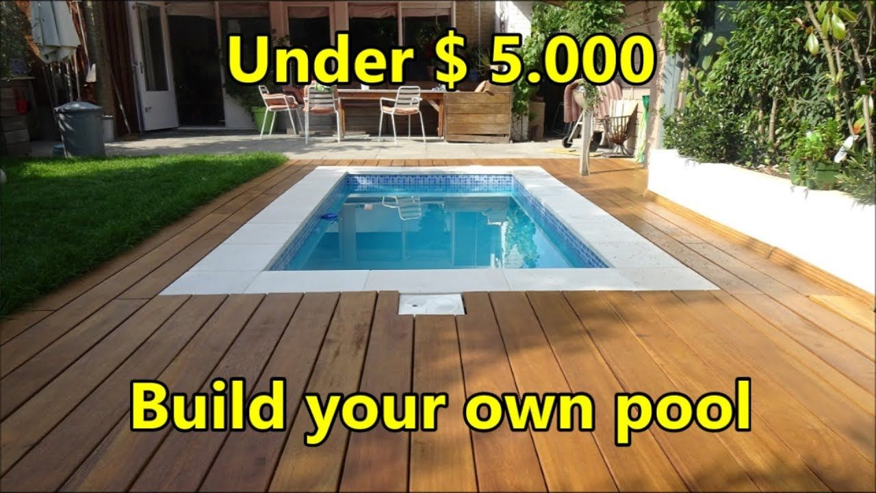 Build your own swimming pool under 5000 costs and
