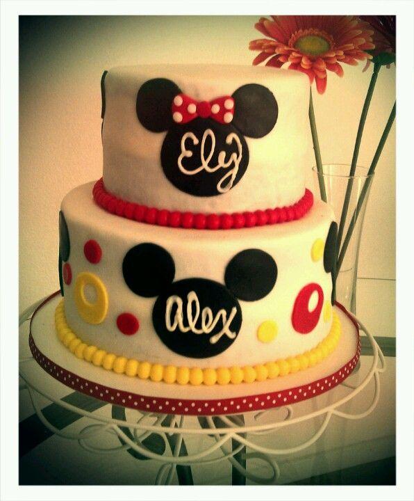 Mickey Minnie cake Cakes by Luz Pinterest Minnie cake