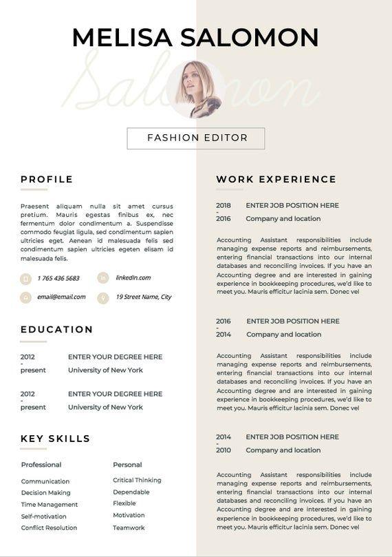 Resume Template | CV Template | Resume | CV design | Teacher resume | CV Instant download Resume | cv | Resume Templates | Curriculum Vitae