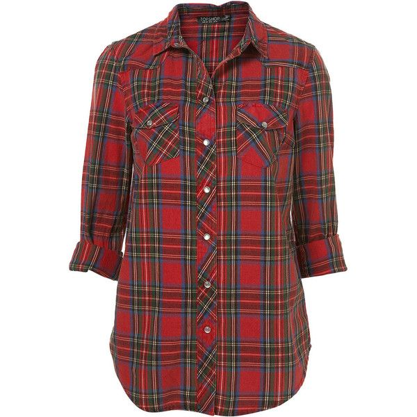Scotty Check Western Shirt (74 CAD) ❤ liked on Polyvore featuring tops, blouses, shirts, blusas, women, western shirts, checked shirt, checkered shirt, checkered blouse and red western shirt