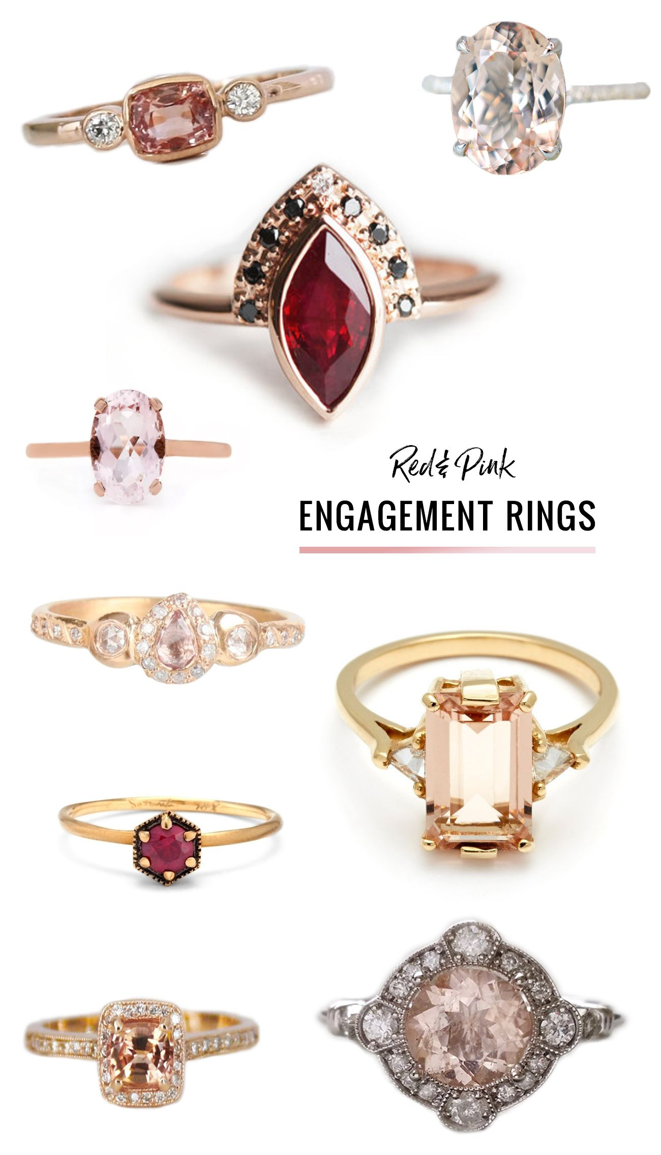 engagement ring rings blush gabrielcorings pink gold white