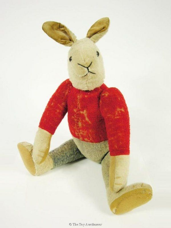 17: A very rare Strunz dressed rabbit : Lot 17 / vintage rabbit.  Love this.