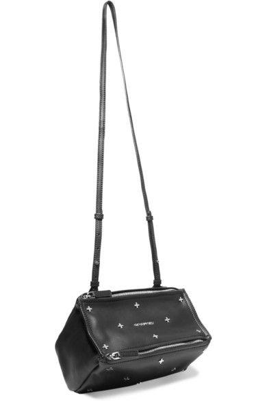 aa8032476297 GIVENCHY Mini Pandora Shoulder Bag In Embellished Black Leather.  givenchy   bags  shoulder bags  leather  canvas