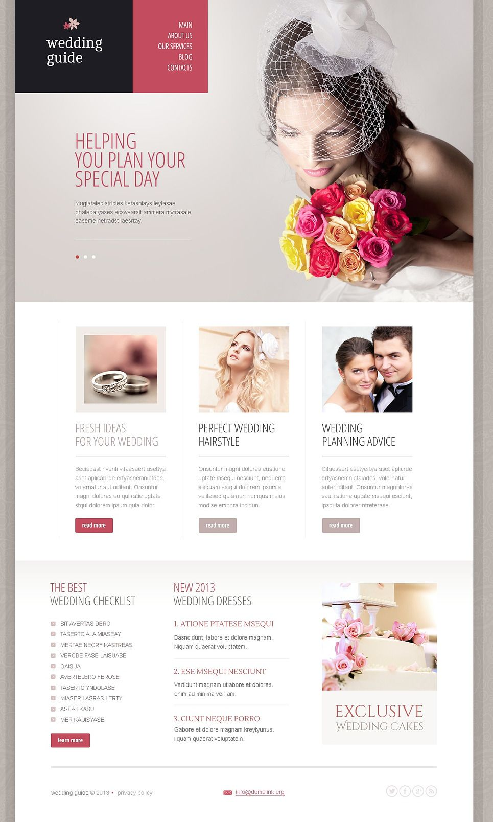 Wedding Planning Websites.Elegant Wedding Planner Drupal Template Design Wedding
