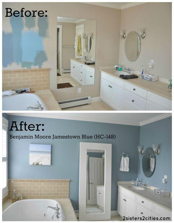 Master bedroom Paint Color- Jamestown Blue Home ideas Pinterest
