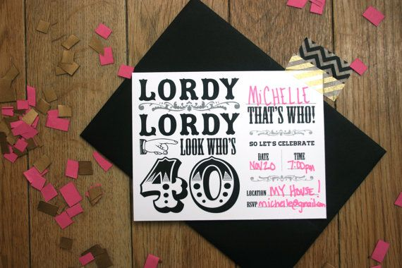 Digital 40th Birthday Party Invitations Instant By Thunderpeep 500