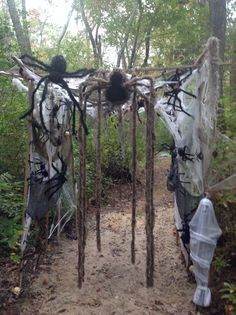 Haunted house ideas on pinterest haunted house props for Haunted woods ideas