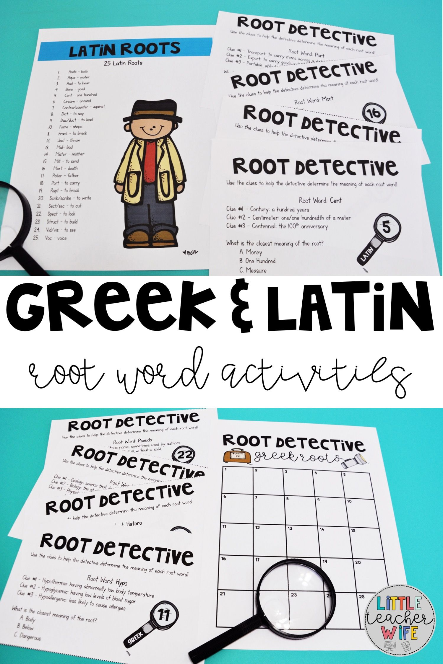 Greek And Latin Roots Classroom Activities