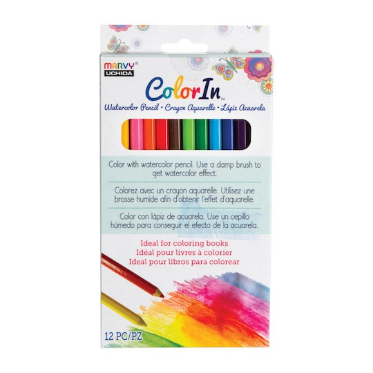 Marvy Uchida Color In Watercolor Pencil Set 12ct By Marvy