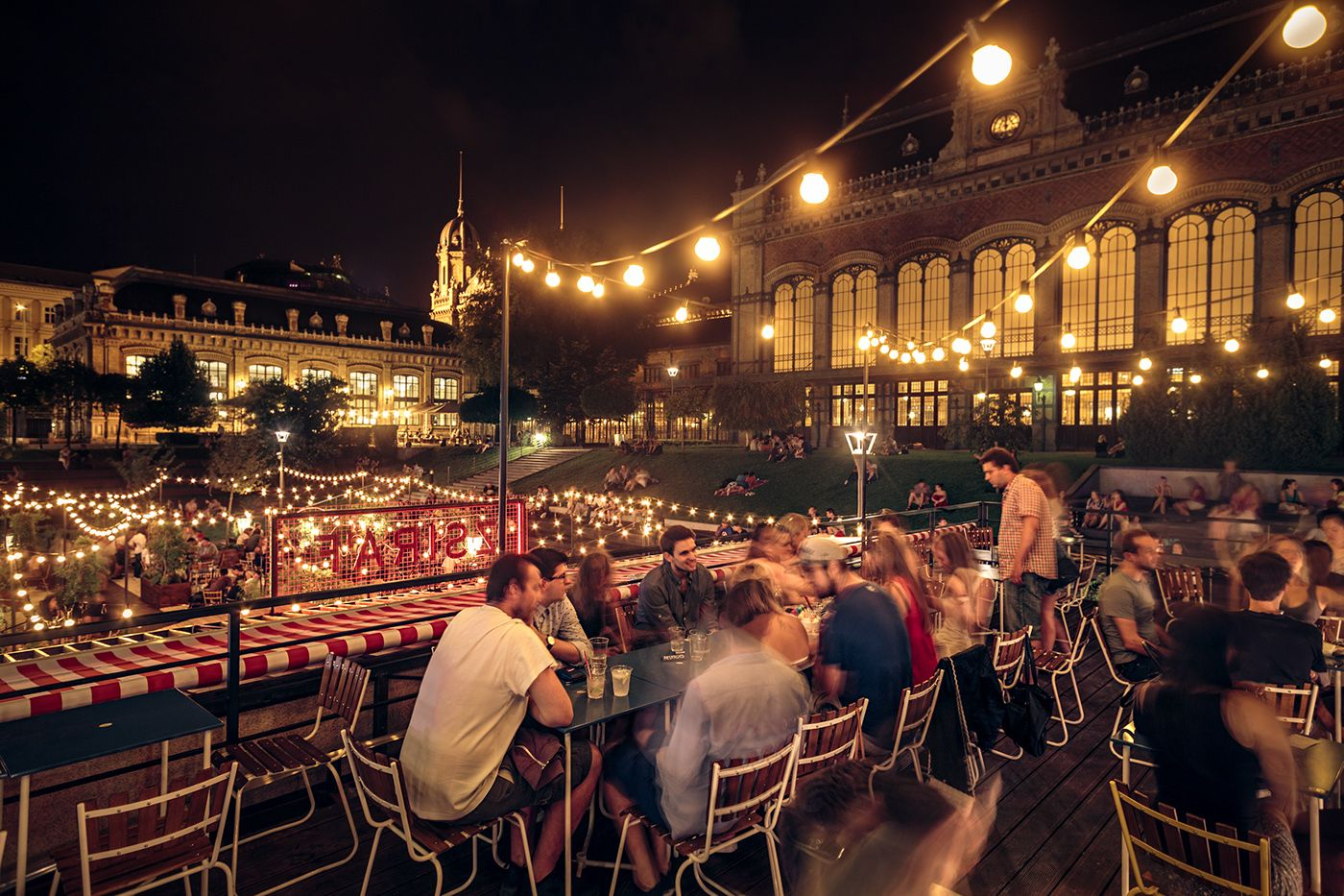 ZSIRÁF on Behance Beer garden, Train station, Challenges