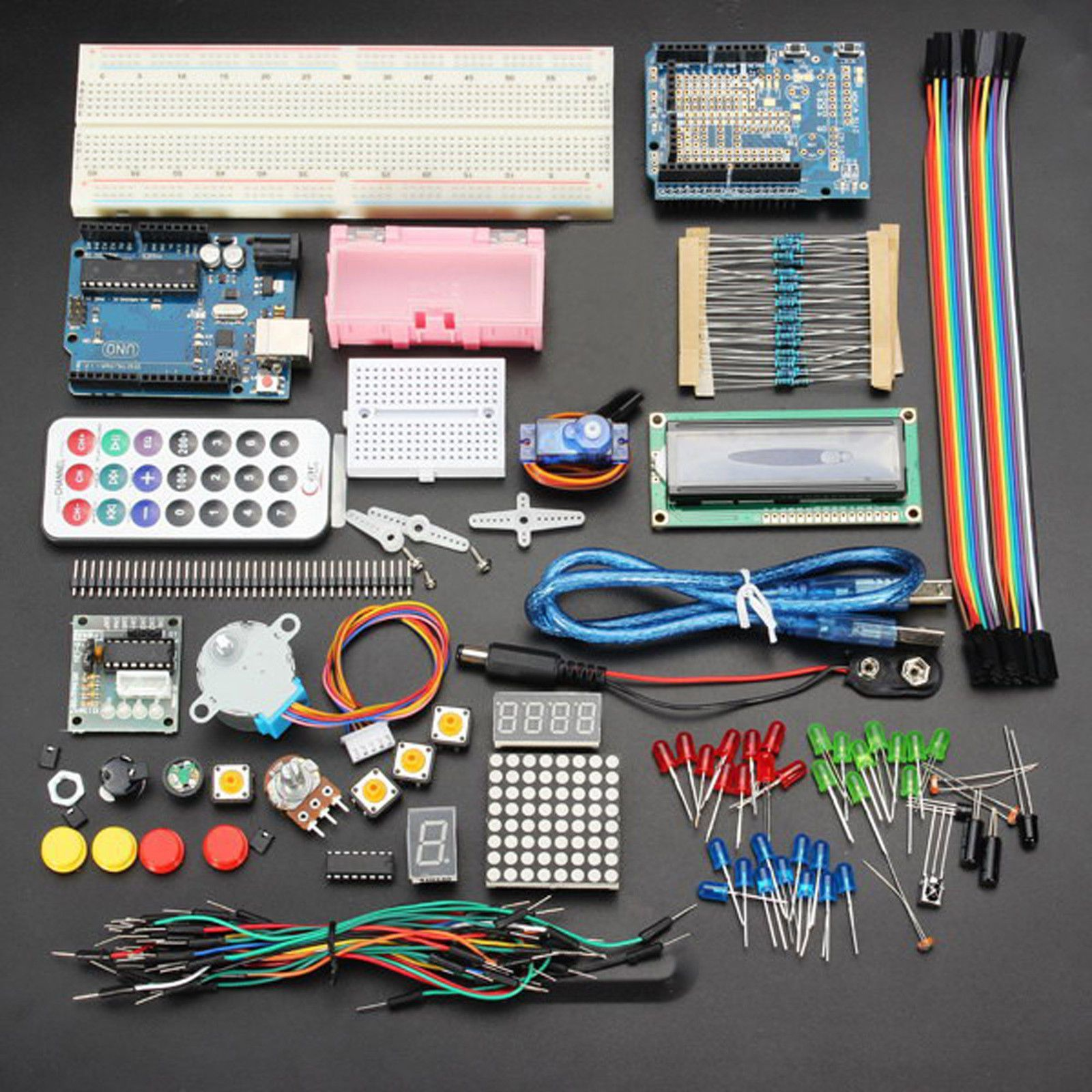 Hot UNO R3 Basic Starter Learning Kit No Battery Version For
