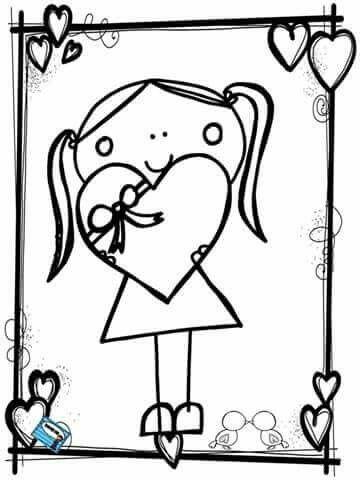 Pin de Marcela Miranda en Dia de São Valentim | Pinterest | Colorear ...