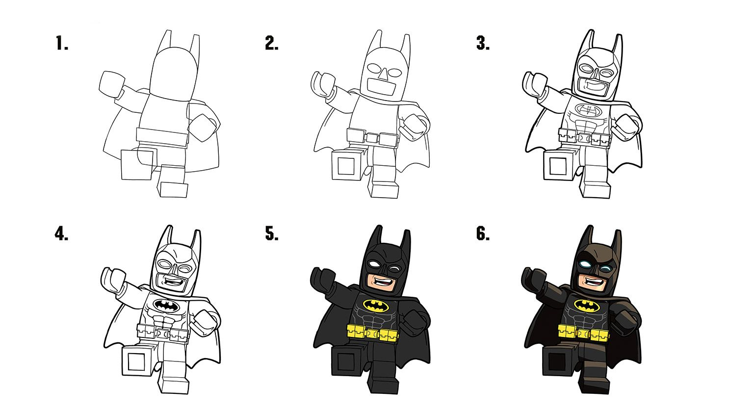 How to draw Batman | The LEGO Batman Movie | Pinterest