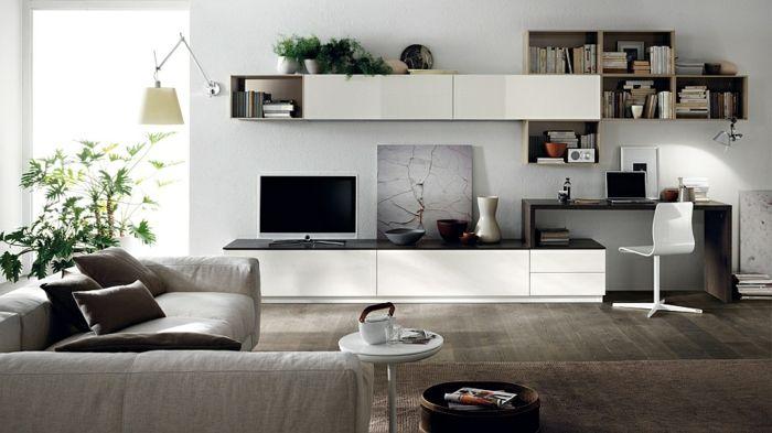 Wohnzimmer einrichtungsideen  Wohnzimmer Einrichtungsideen im minimalistischen Stil | möbel ...