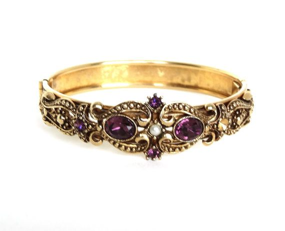 product bangle clasp collect filled bracelet with com s gold bangles deco antique sell art