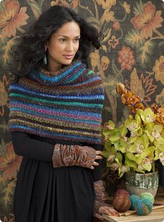 Welted Cowl From Knit Noro Accessories Two dazzling colorways plus a bold sti...