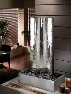 Fuentes de agua decorativas cascadas modernas indoor - Fuentes de agua interior ...