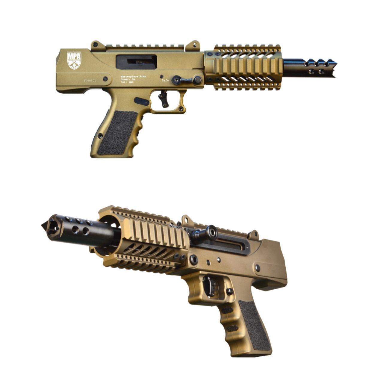 MasterPiece Arms 935DMG – 9mm Pistol  Excellent SBR